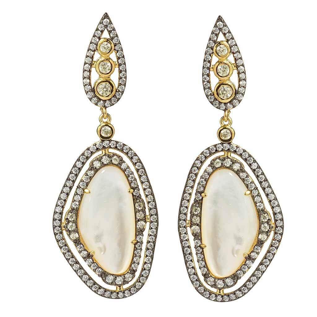 Sydney Mother-of-Pearl Drop Earrings