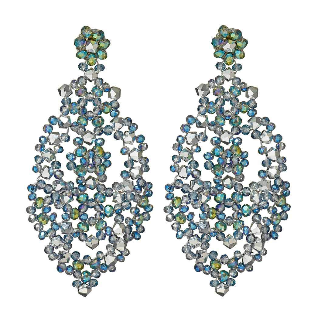 Molly Sea Blue Chandelier Earrings