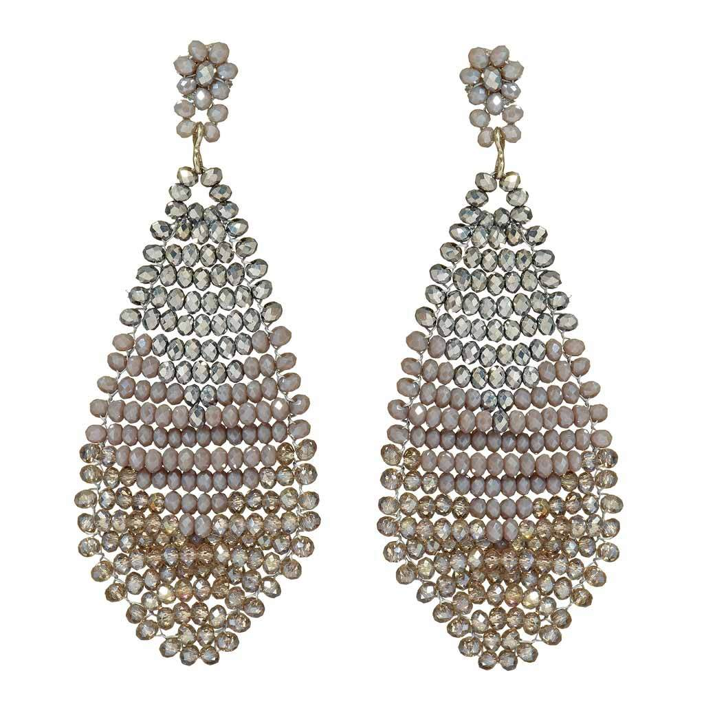 Anastasia Handwoven Cut Crystal Earrings