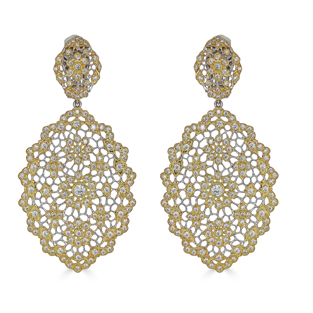 Alora Two-Tone Chandelier Earrings