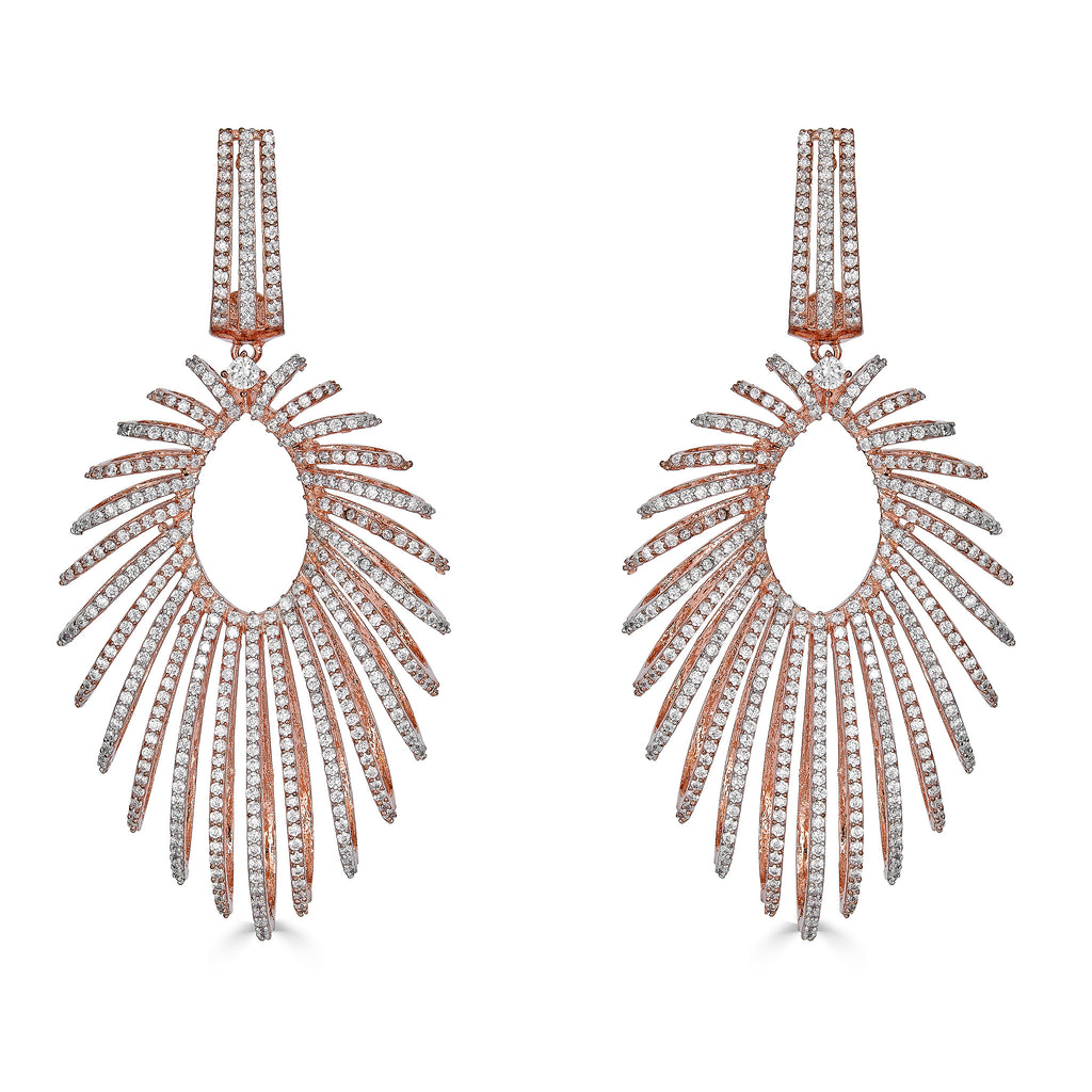 Paloma Rose Gold Statement Earrings