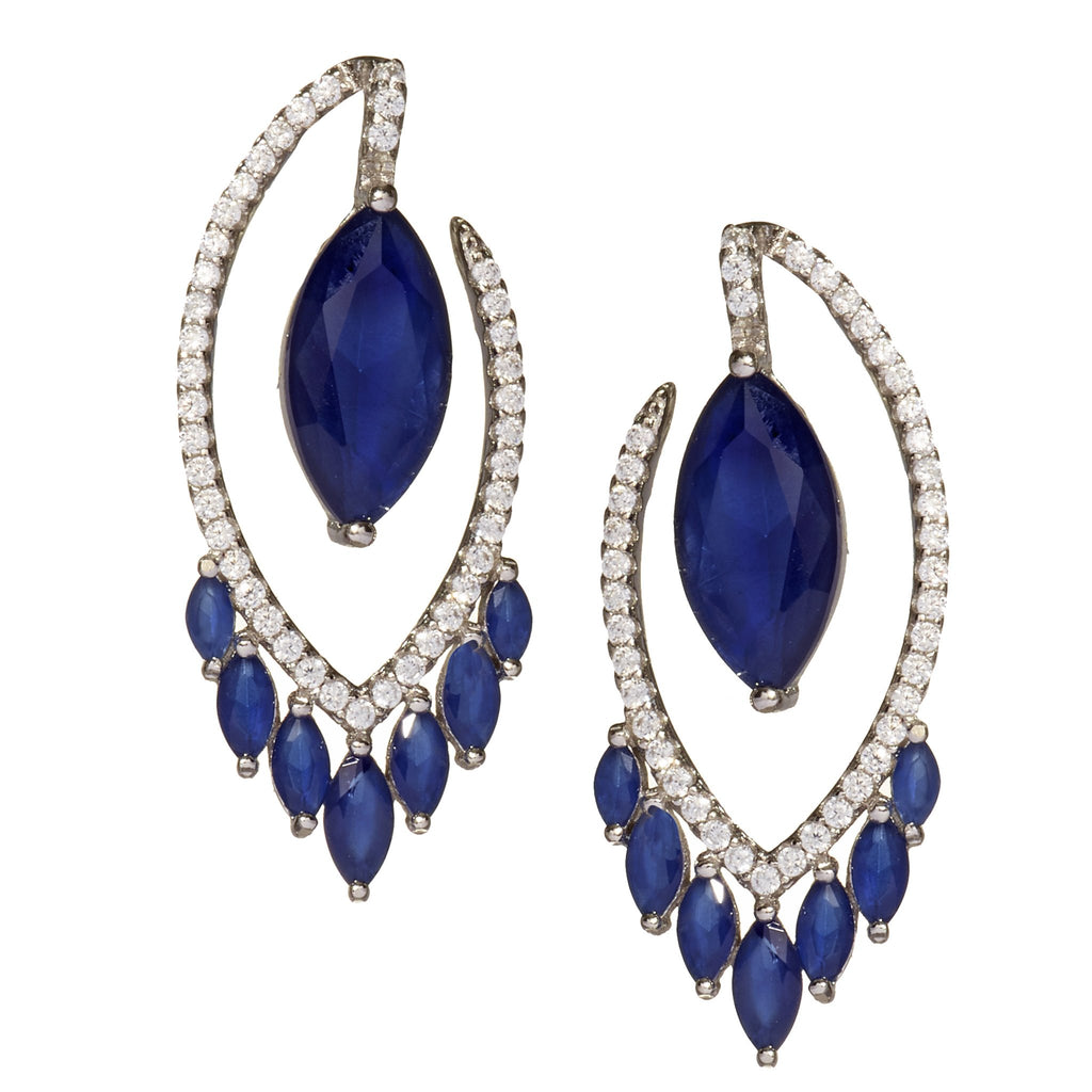 Amaris Sapphire Drop Earrings