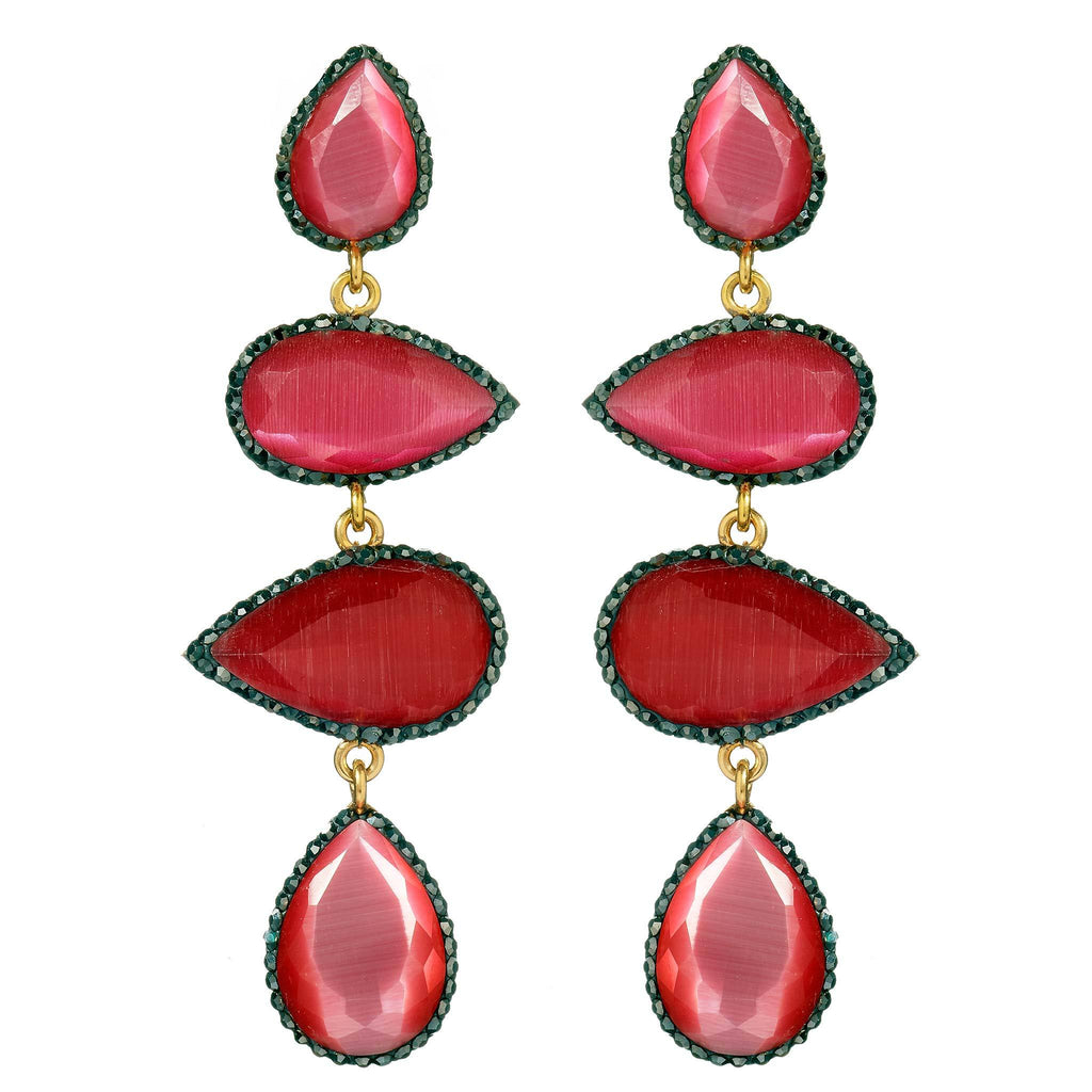 Corinn Ruby Drop Earrings