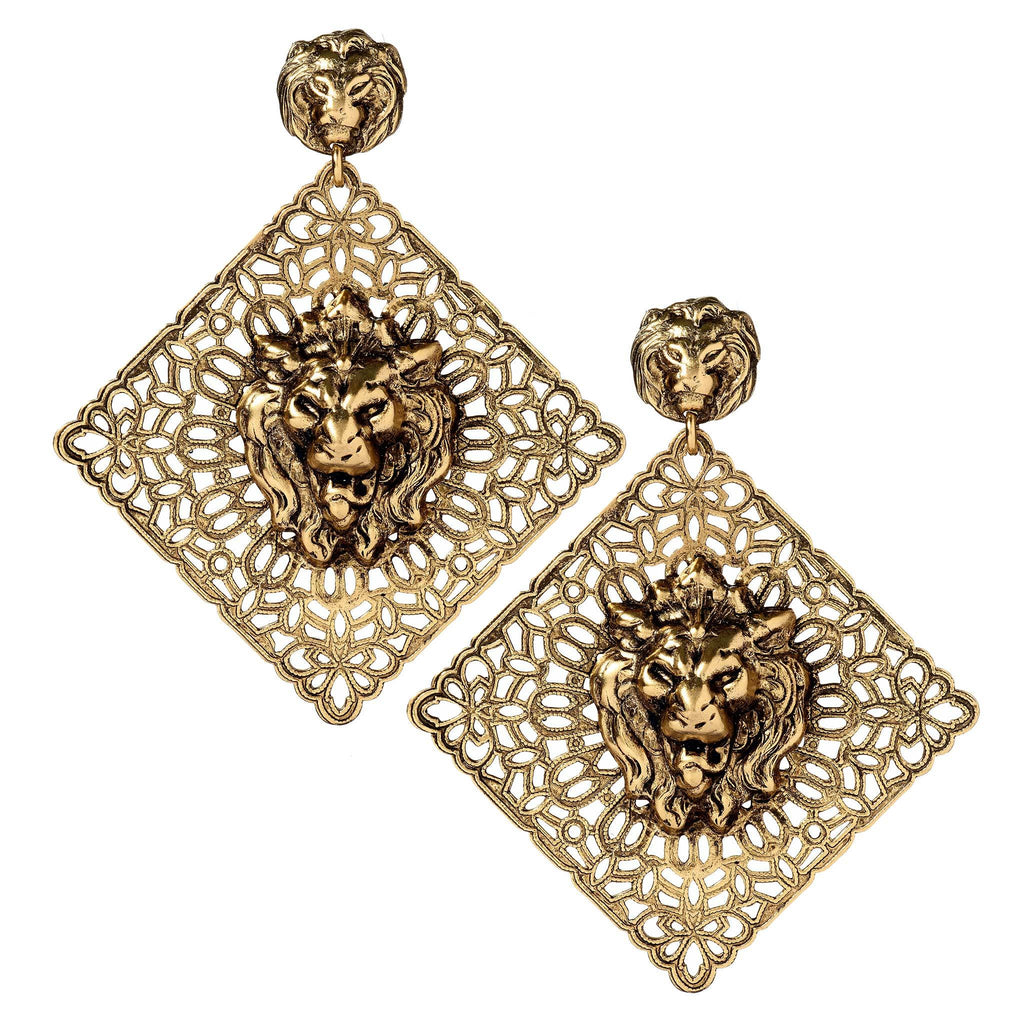 Ryann Brass Statement Earrings