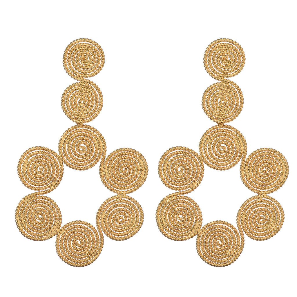 Lina Gold Statement Earrings
