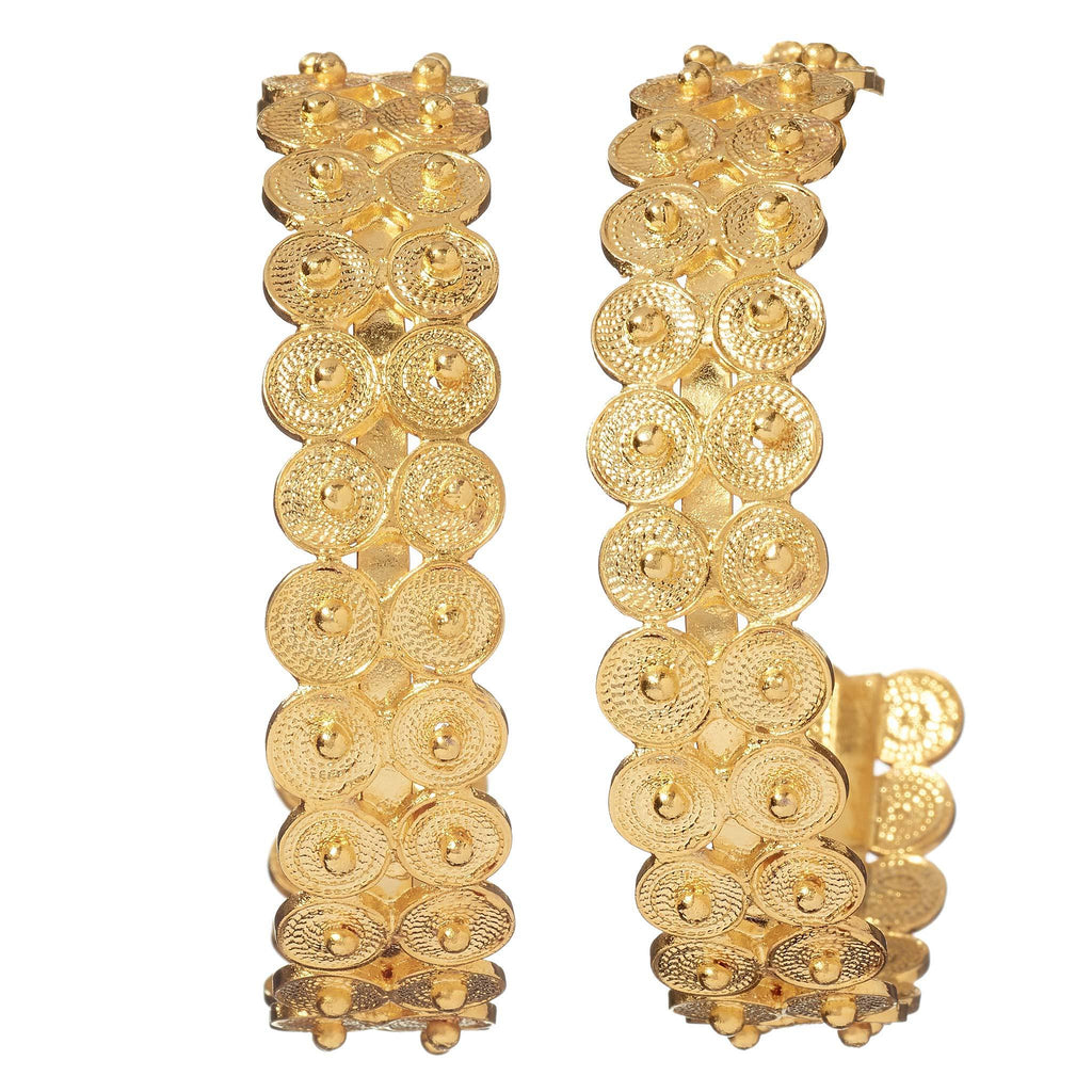 Zaria Gold Hoop Earrings