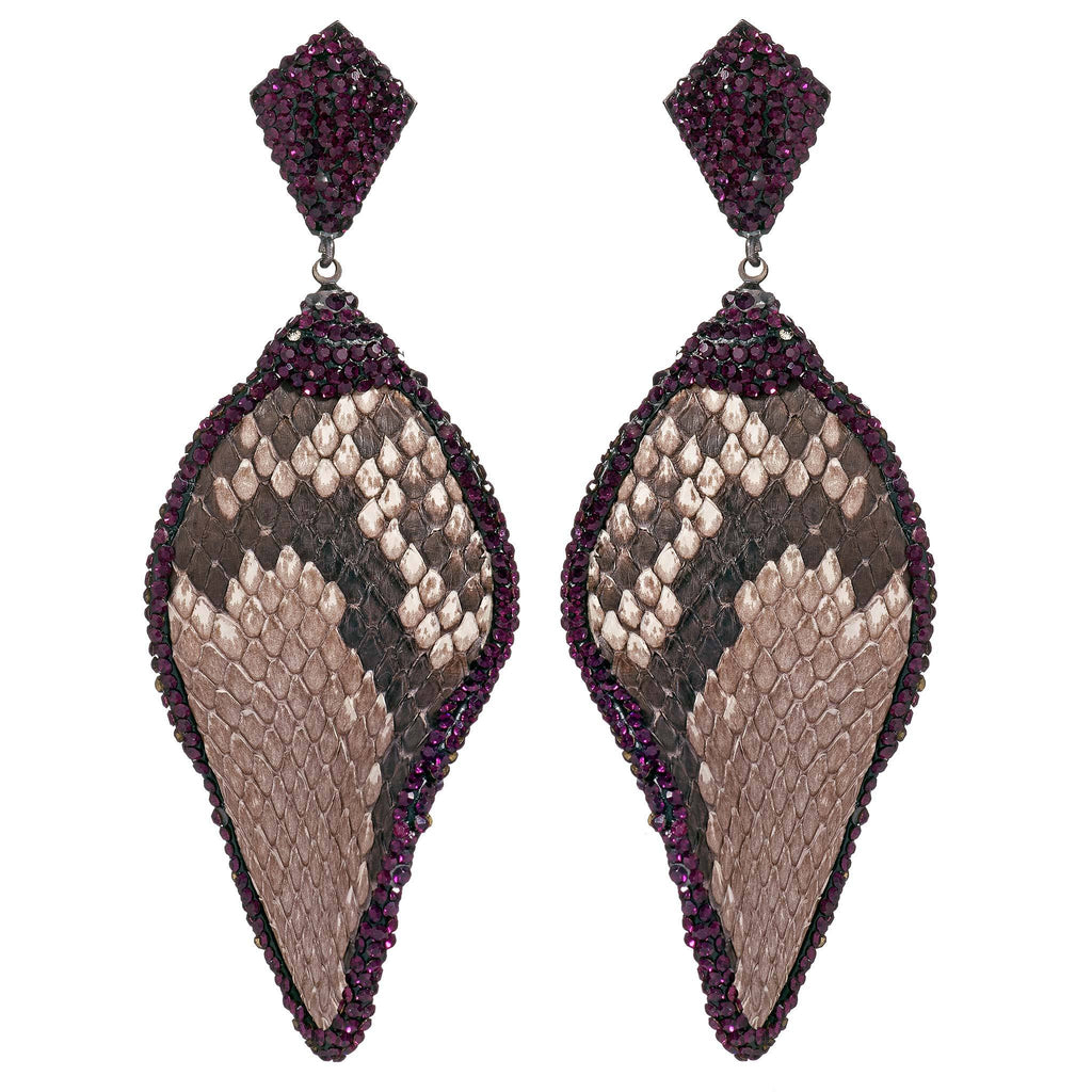 Noemi Snakeskin Statement Earrings