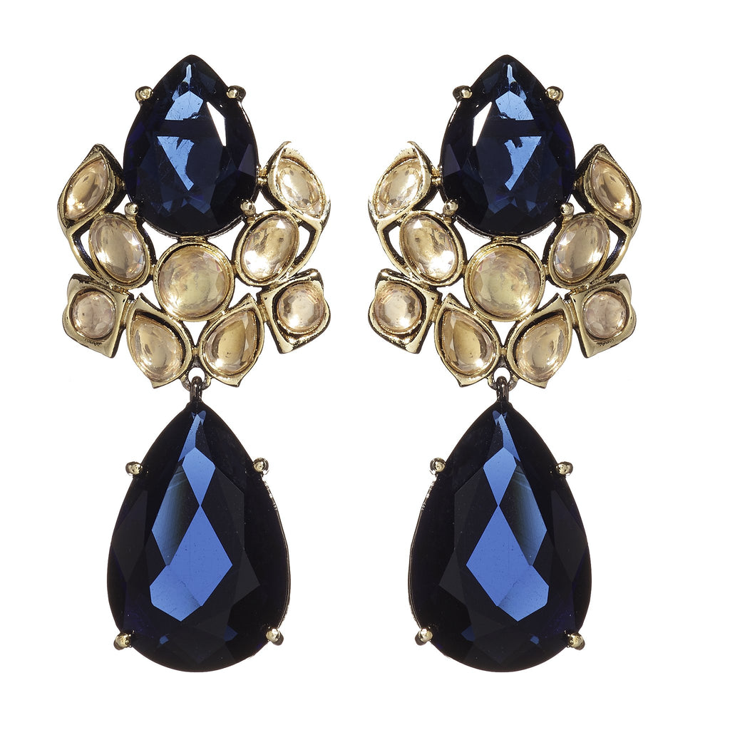 Lila Sapphire Drop Earrings