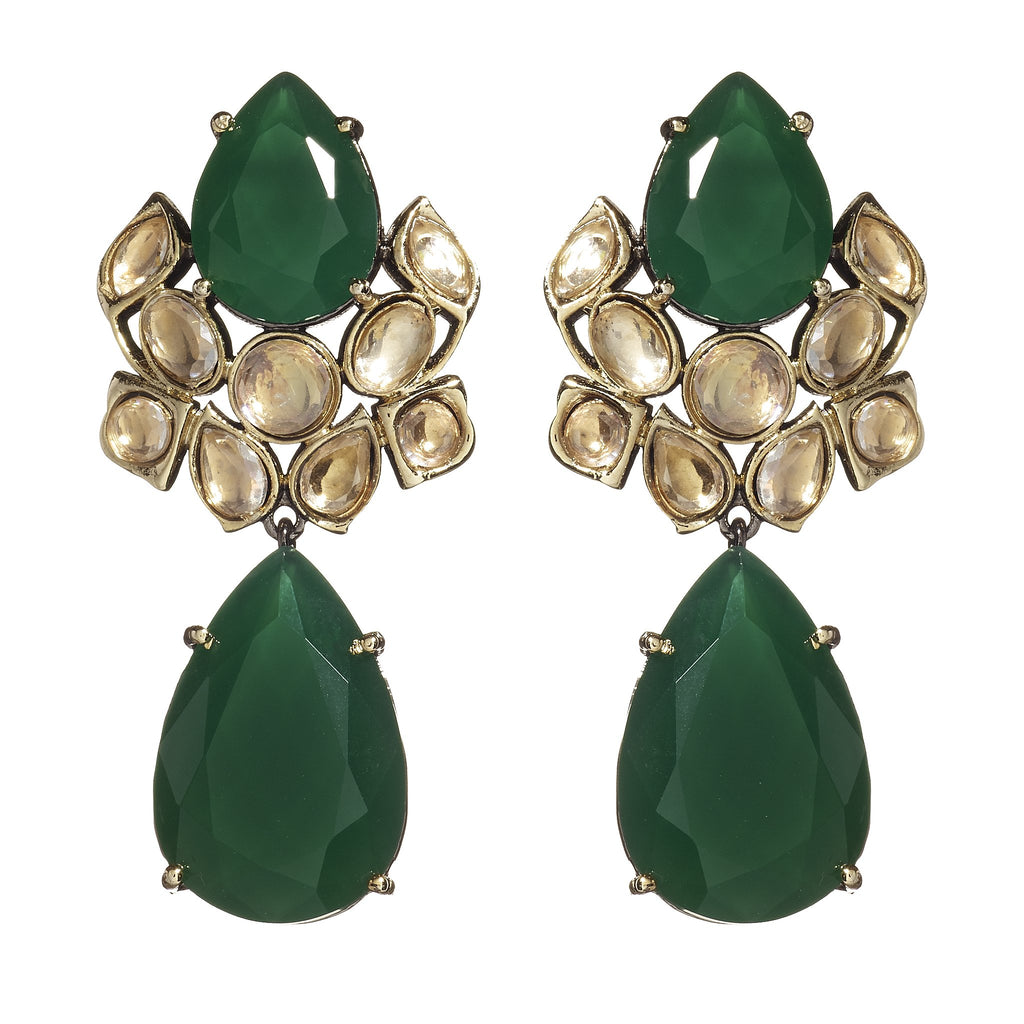 Ana Emerald Drop Earrings