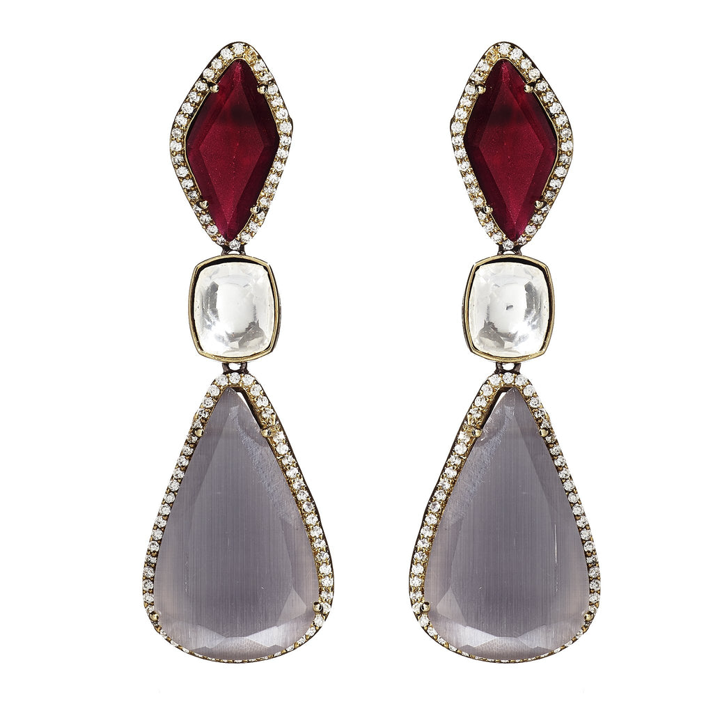 Alana Two-Tone Drop Earrings