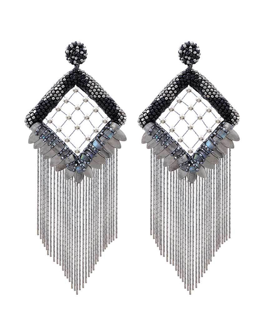 Rosalie Vintage Fringe Statement Earrings
