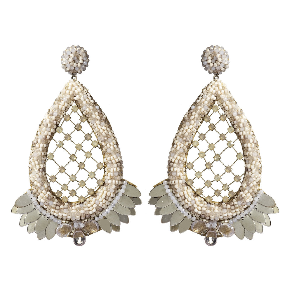 Joanna Beaded Teardrop Statement Earrings