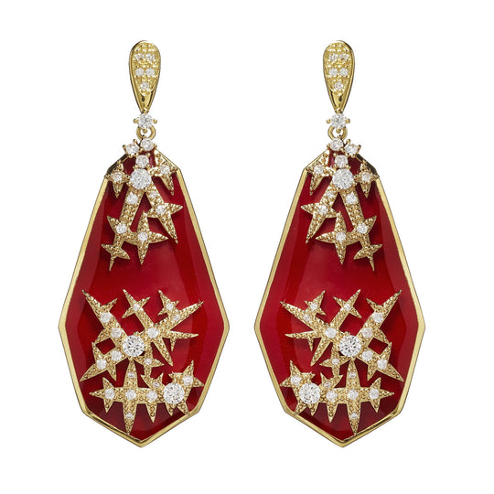 Raegan Ruby Constellation Earrings