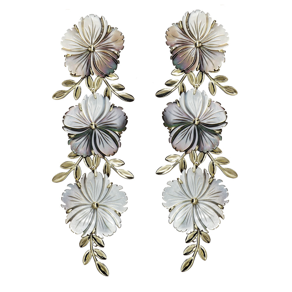 Melissa Cascading Rose Earrings