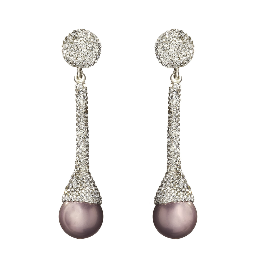 Stephanie Crystal Pearl Earrings