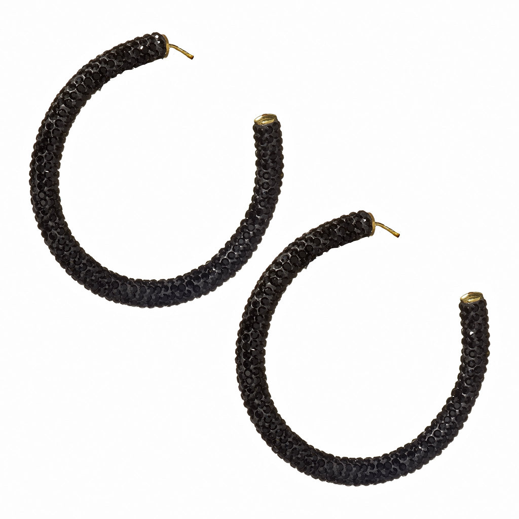 Marianna Onyx Hoop Earrings