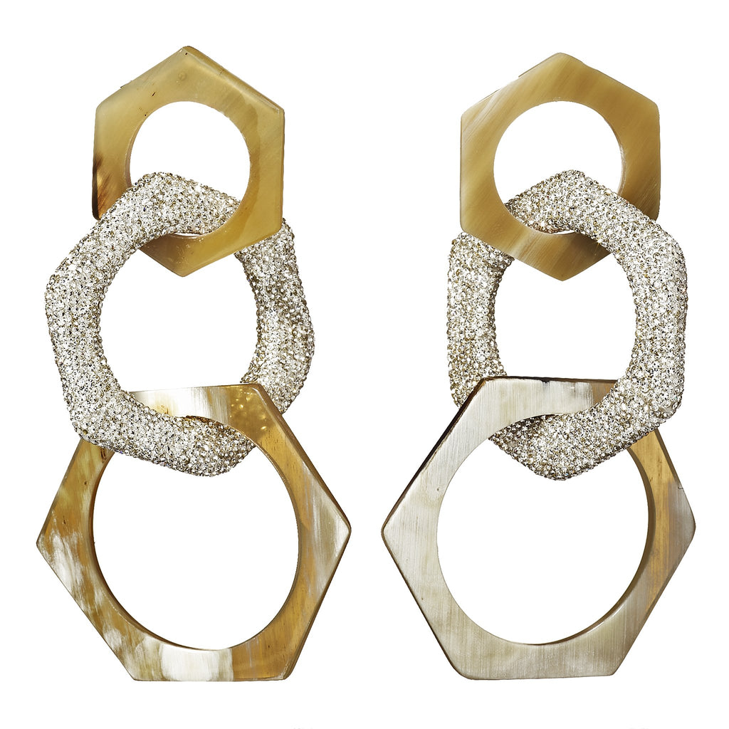 Freya Hexagon Chandelier Earrings