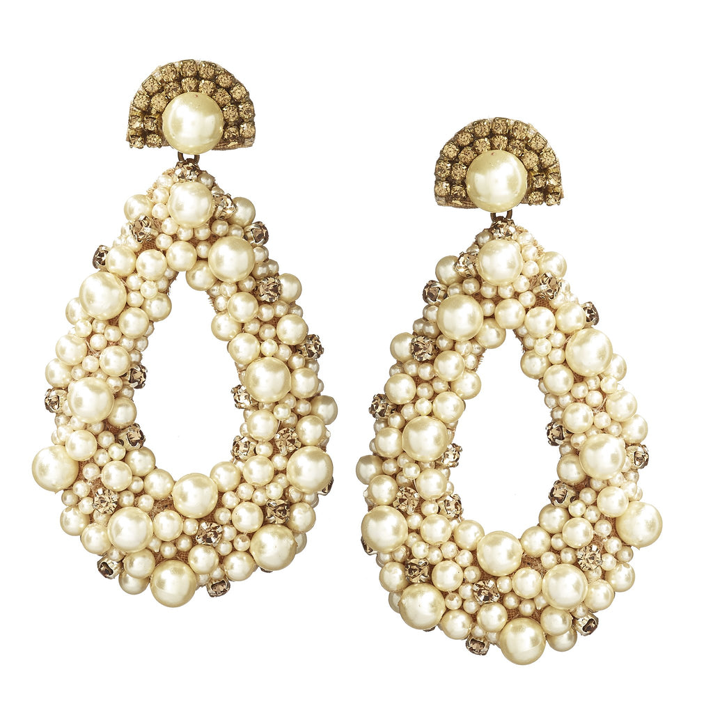 Pakuna Gold Pearl Drop Earring