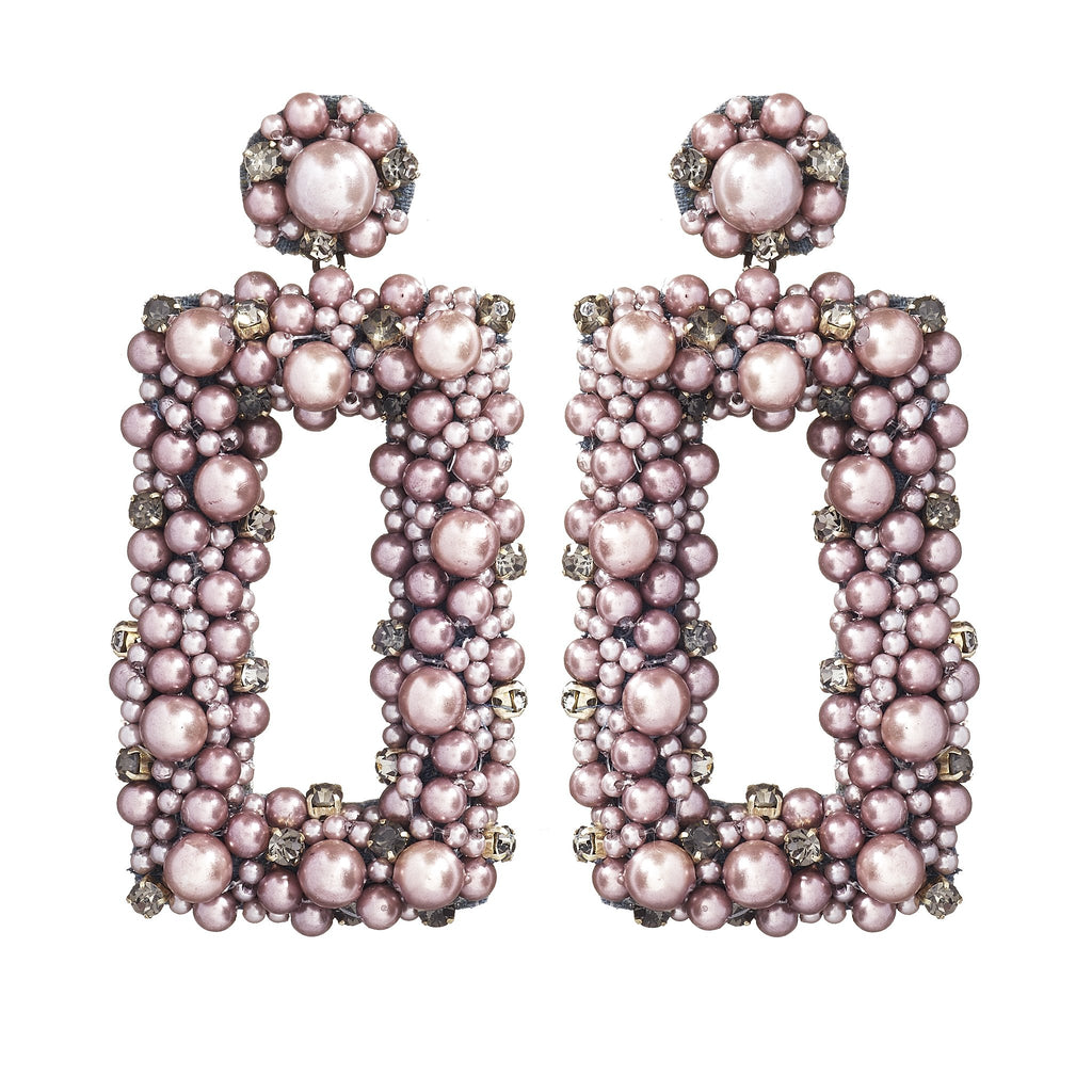 Lilac Pearl Drop Earrings