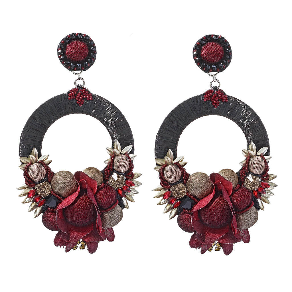Gala Ruby Hoop Earrings
