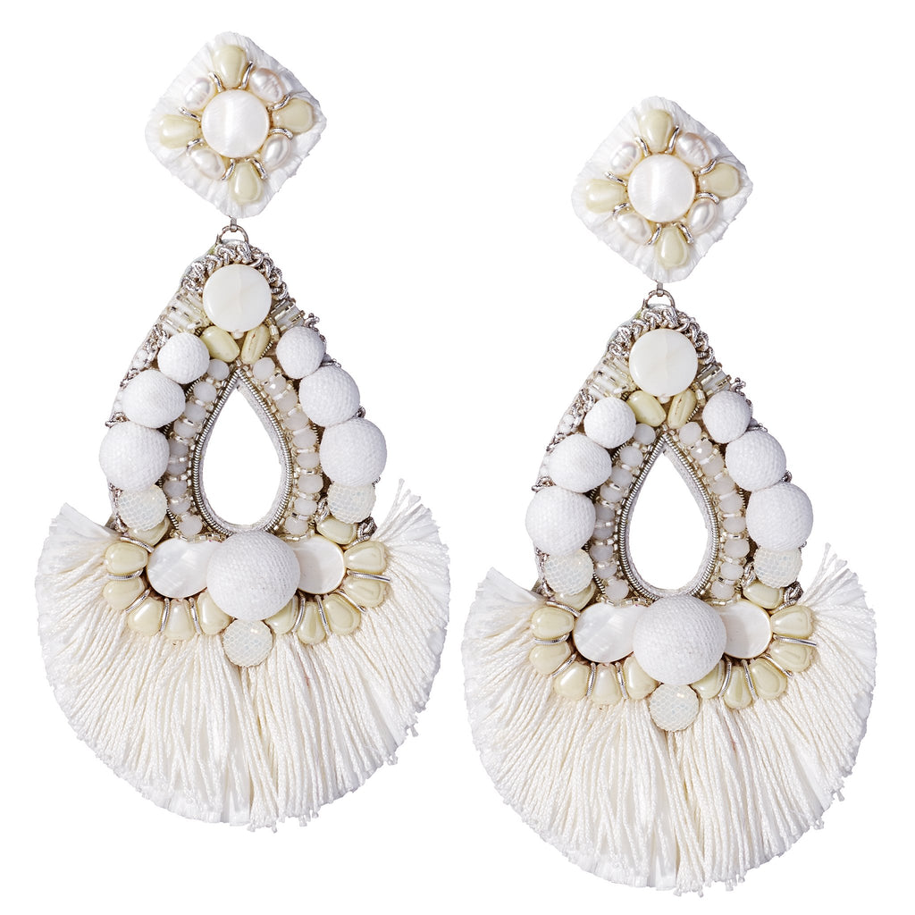Fairy Pom-Pom Statement Earrings