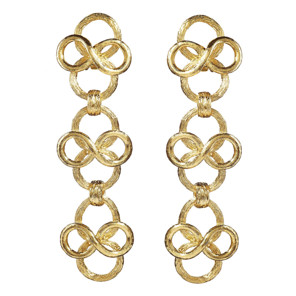 Dakini Fancy Swirls Drop Earrings