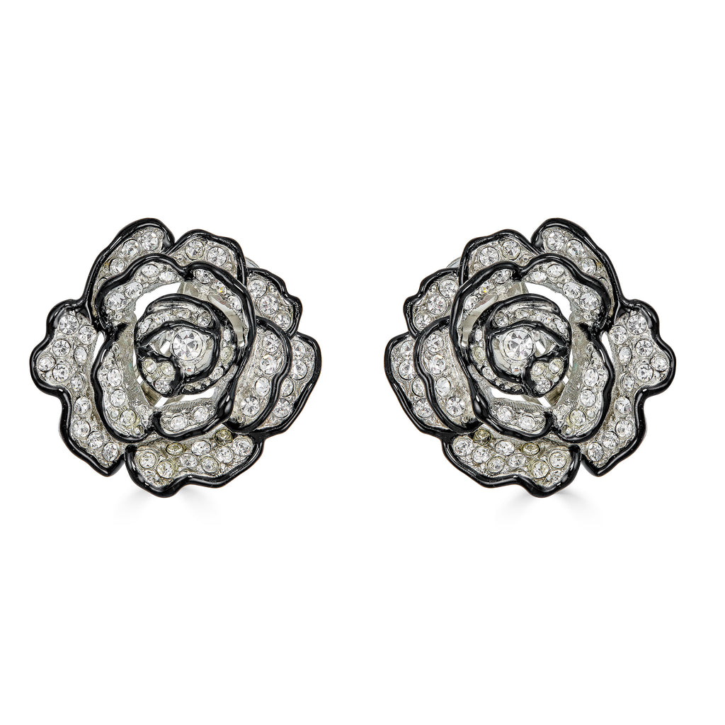 Caelan Antique Floral Crystal Studs