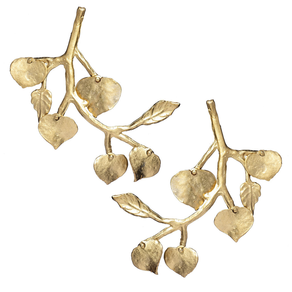 Rica Gold Branch Statement Earrings