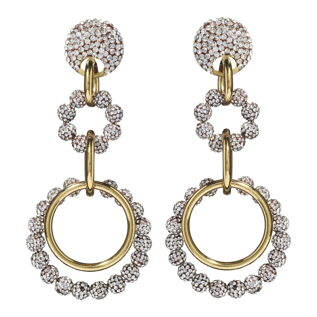 Channing Crystal Loop-De-Loop Earrings