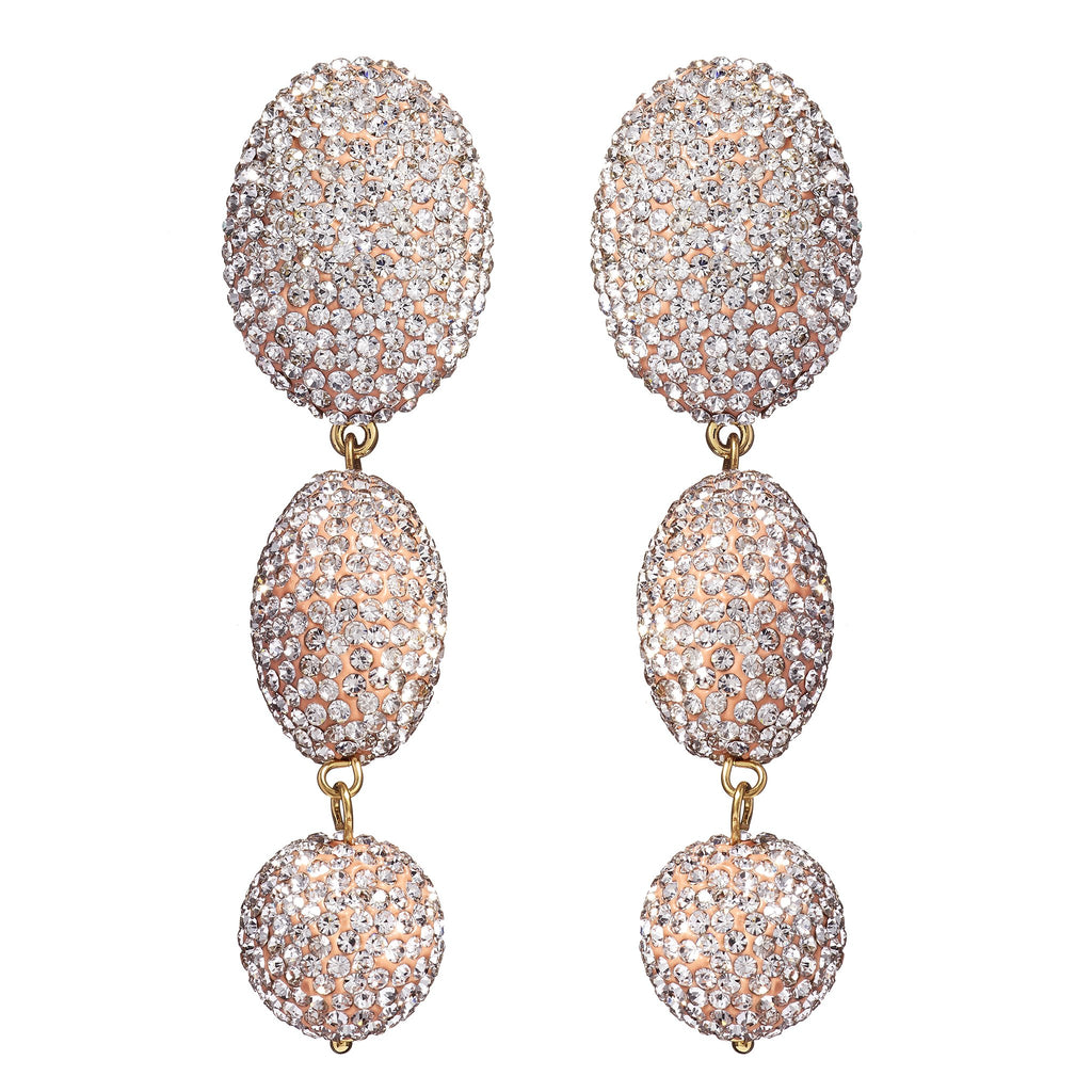 Aryanna Crystal Bubble Drop Earrings