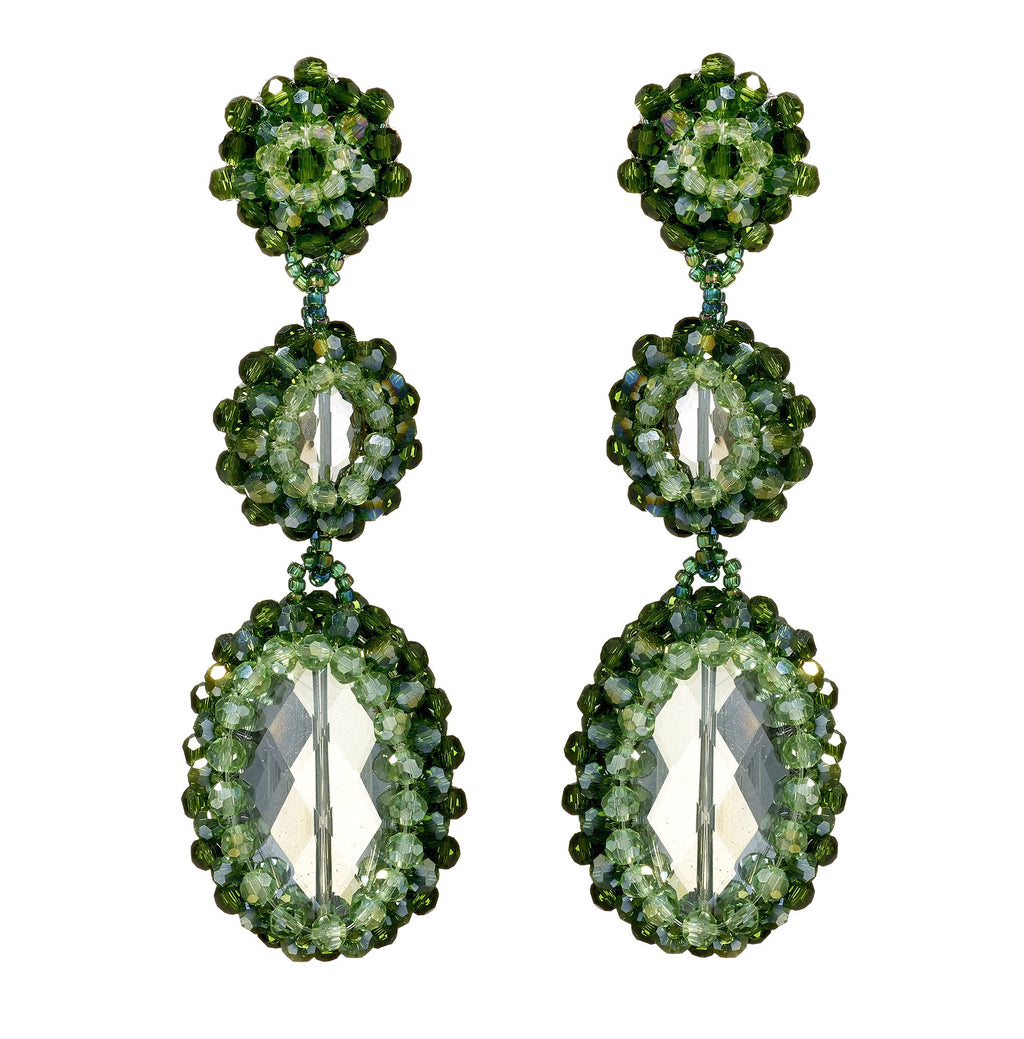 Zaniyah Crystal Clip-On Earrings
