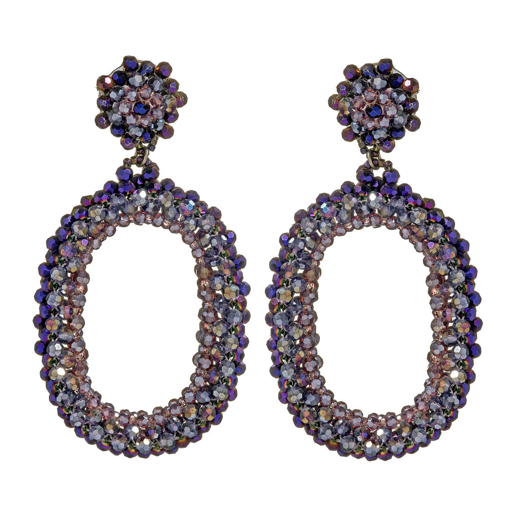 Paisleigh Crystal Clip-On Earrings