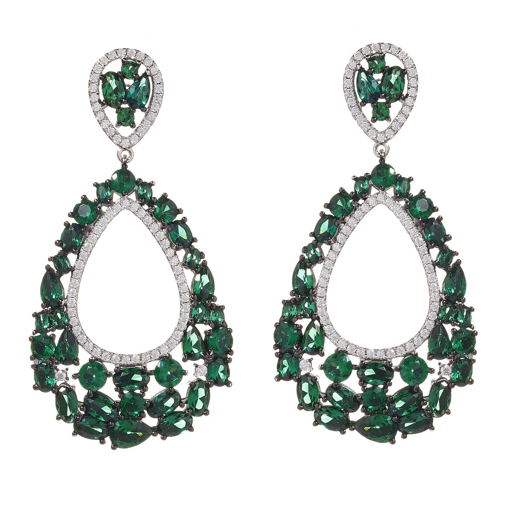 Alisha Emerald Drop Earrings