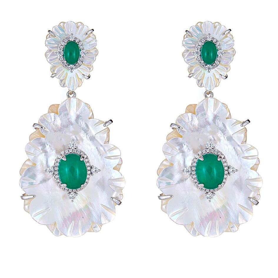Susan Floral Drop Earrings