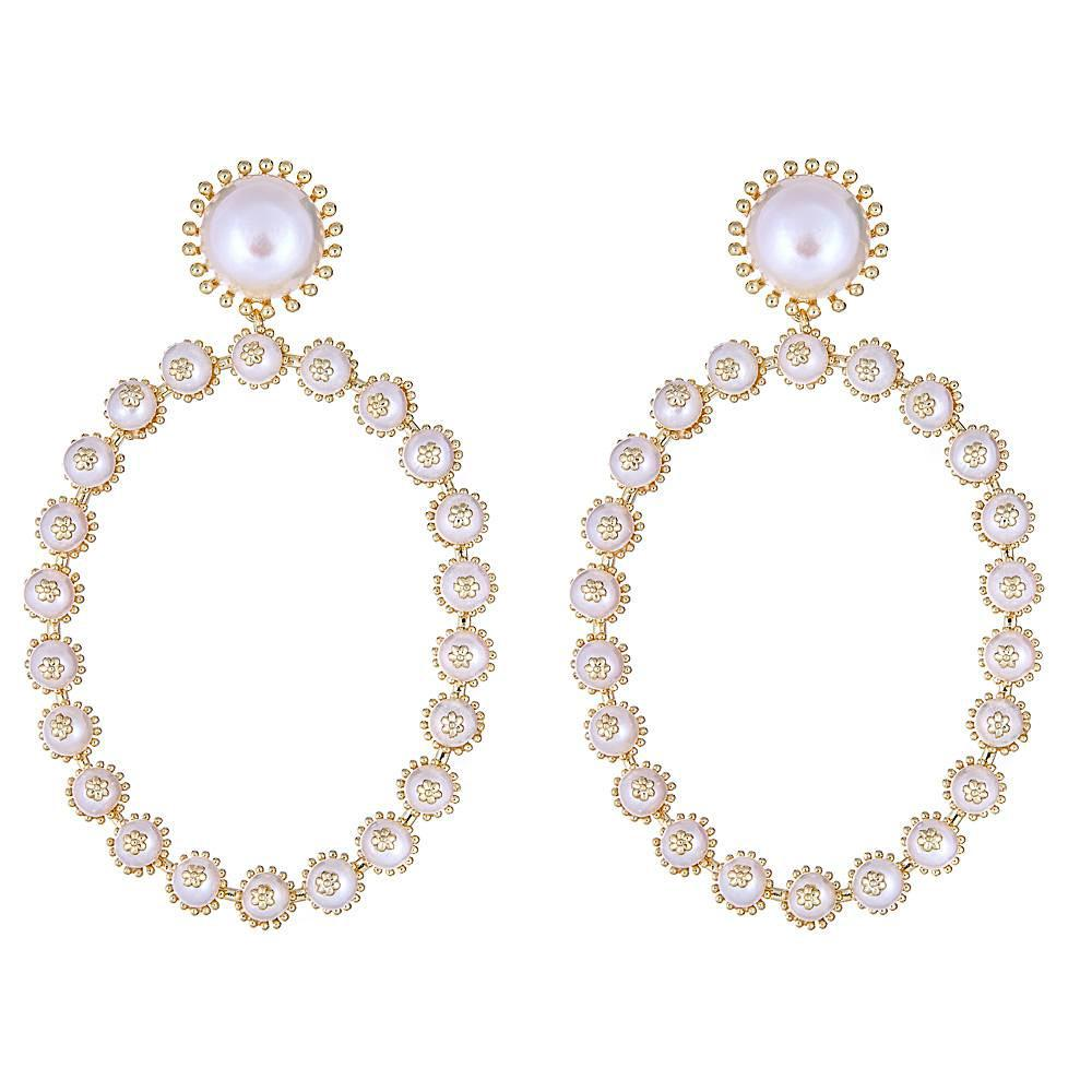 Aranza Pearl Hoop Earrings