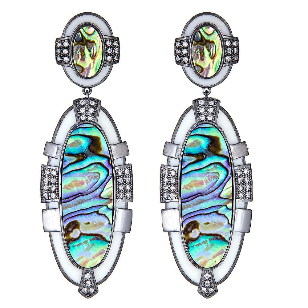 Riya Art Deco Chandelier Earrings