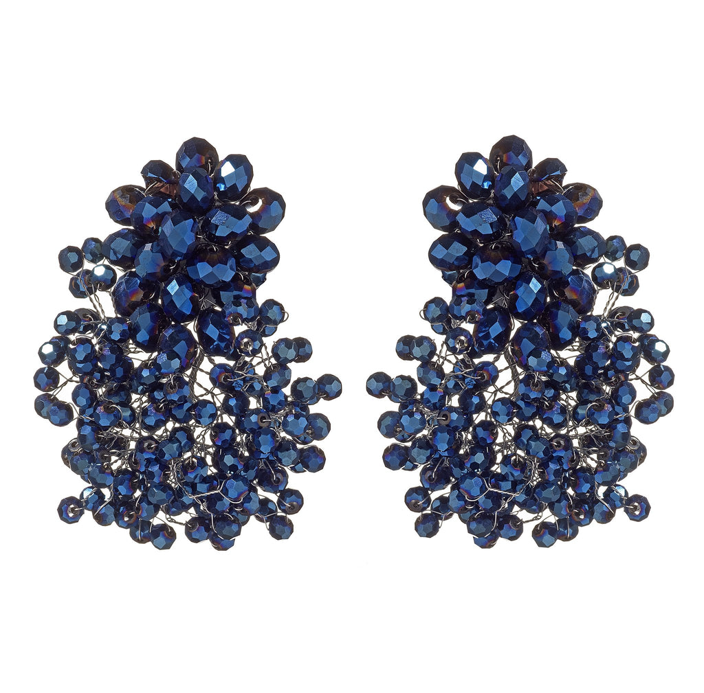 Isamar Crystal Clip-On Earrings