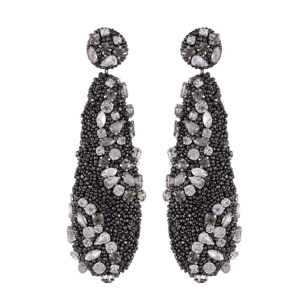 Idell Gunmetal Statement Earrings