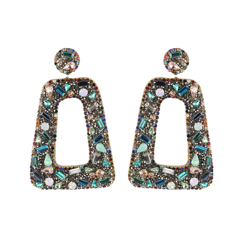 Zora Multi-Colored Statement Earrings