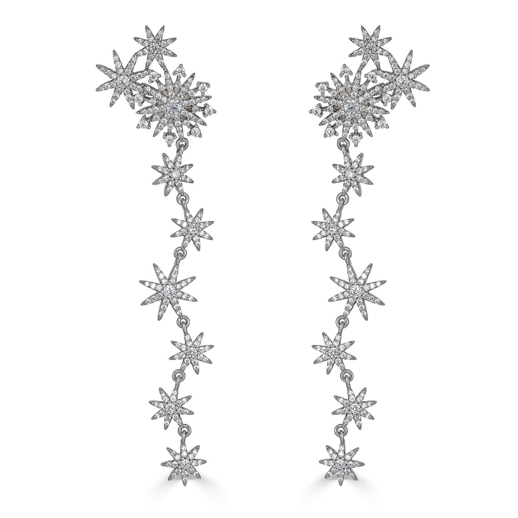 Exie Starburst Drop Earrings