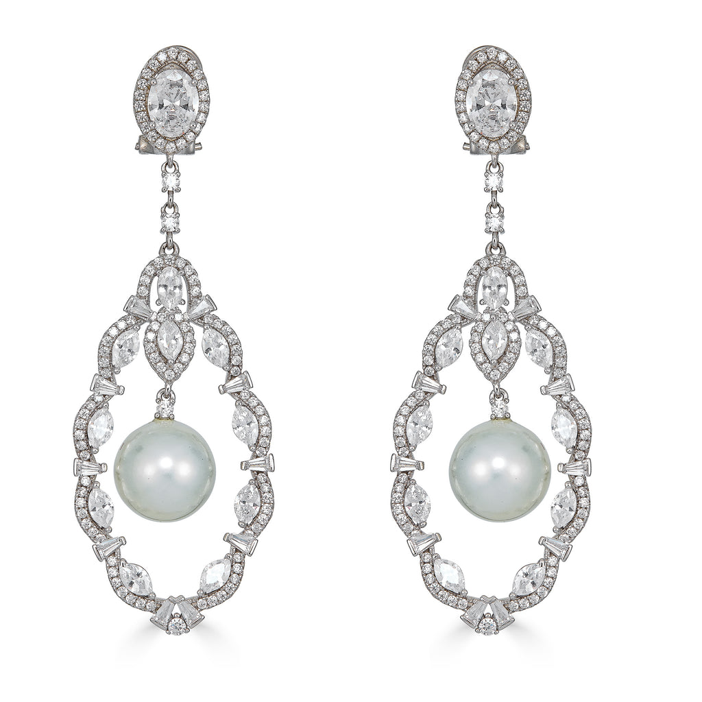 Gaynell Pearl Statement Earrings