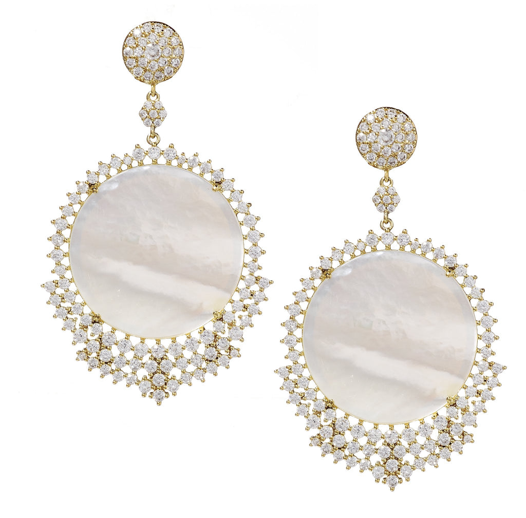 Golda Mother-of-Pearl Drop Earrings
