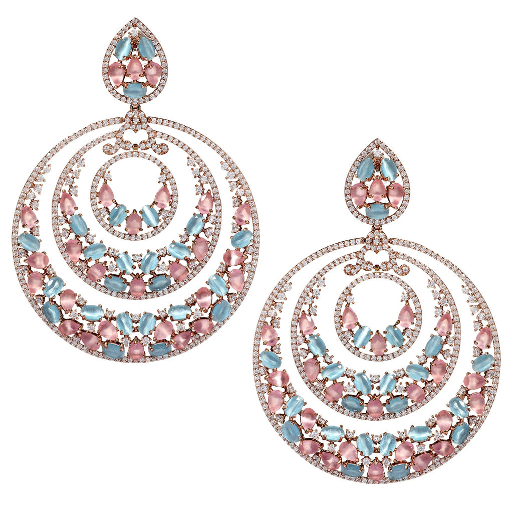 Porsha Multi-Hoop Statement Earrings