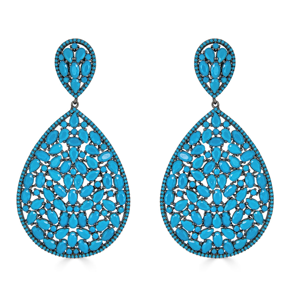 Tyesha Turquoise Drop Earrings