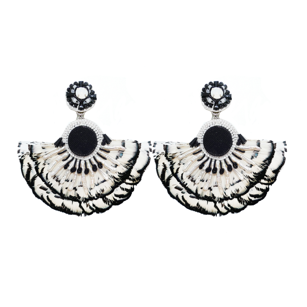 Taya Flamingo Clip-On Earrings