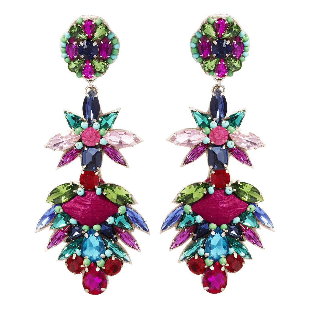 Tamia Clip-On Crystal Earrings
