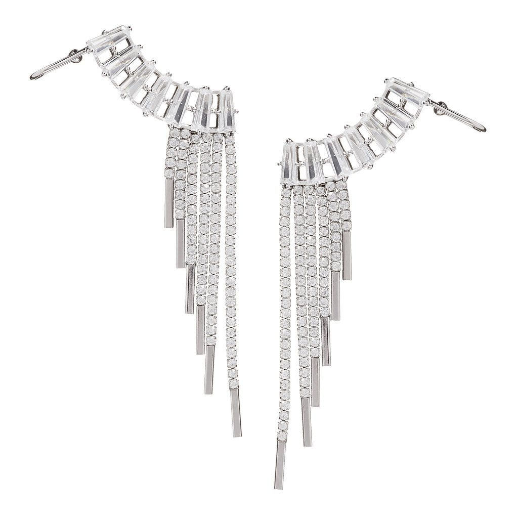 Cruz Crystal-Ear Crawler Earrings