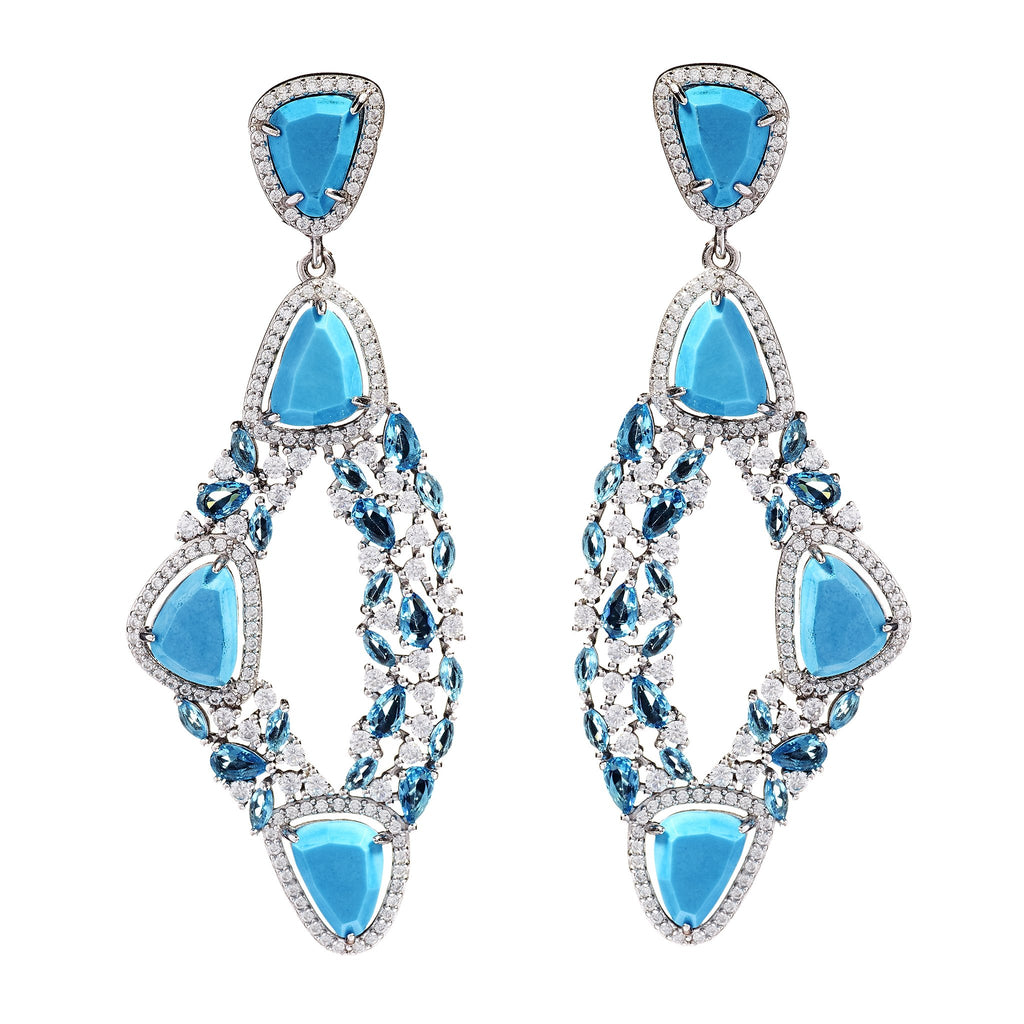 Luanne Turquoise Statement Earrings