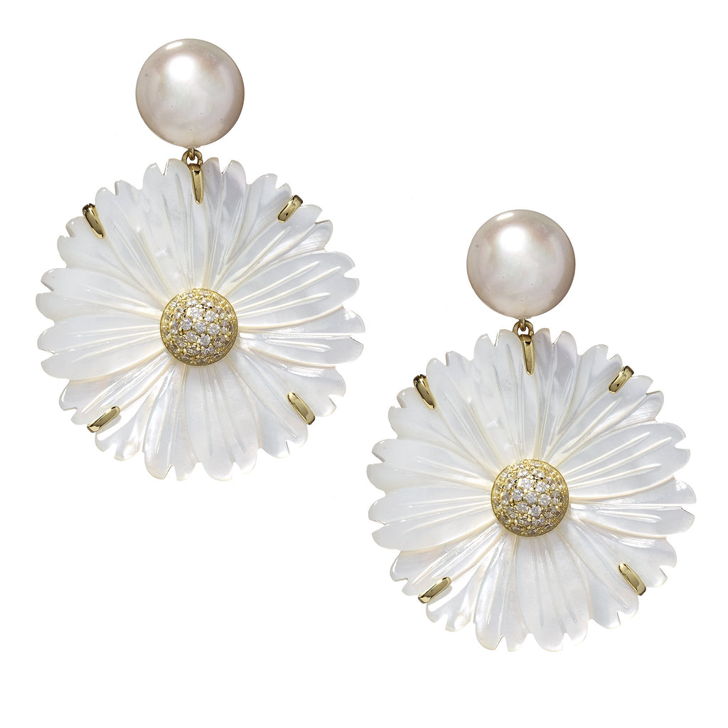 Machelle Floral Drop Earrings