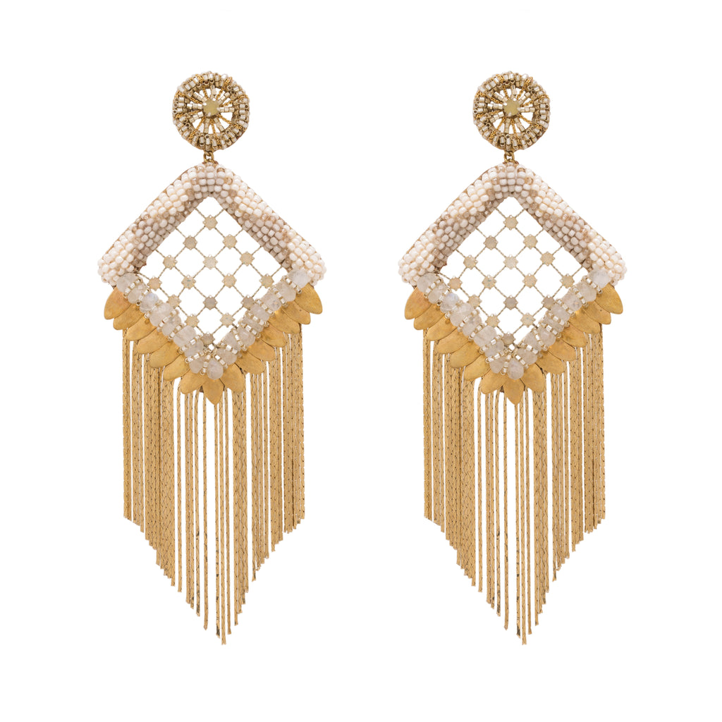 Sudie Gold Chandelier Earrings